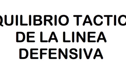 Equilibrio táctico de la línea defensiva