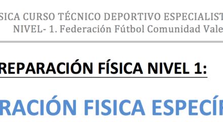 Apuntes Preparación Fisica Curso Entrenador – Federación Valenciana de Futbol