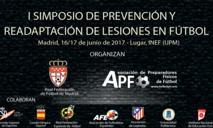 Programa definitivo del I Simposio de prevención y readaptación de lesiones en fútbol