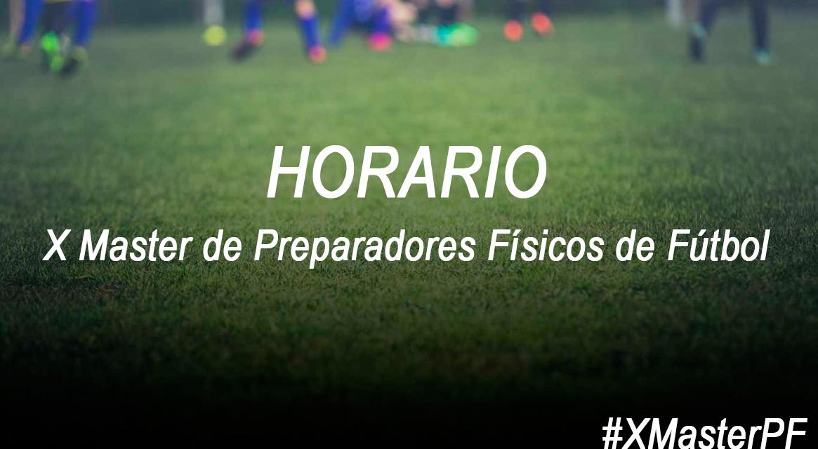 Horario Jornada 9 X Master PF