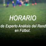 Horario de la Jornada 5 Curso Experto Análisis del Rendimiento en Fútbol