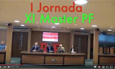 Video I Jornada del XI Master PF