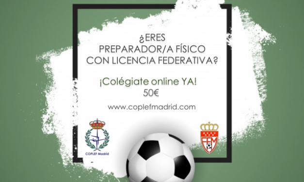 Oferta Preparadores físicos colegiados al Comité de Entrenadores y Preparadores Físicos de la RFFM