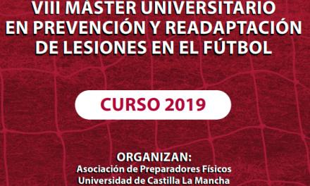 VIII Promoción del Master en Prevención y Readaptación de Lesiones en Fútbol