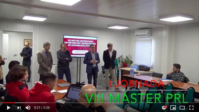 Video 1ª Jornada del VIII Máster PRL