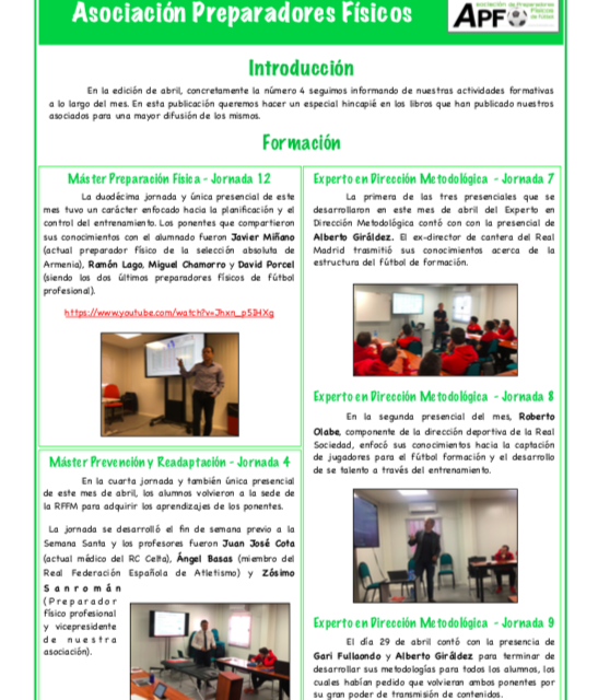 NEWSLETTER Nº4 ABRIL 2019