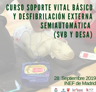 Curso de soporte vital y desfibrilador COPLEF Madrid