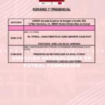 Horario Jornada 1 del II Curso en Dirección Metodológica en Fútbol Formación