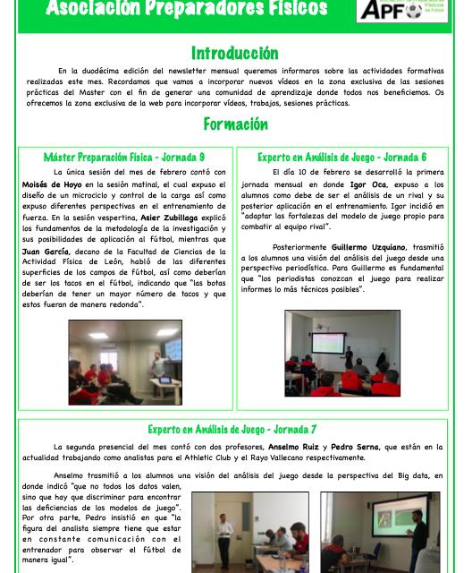 Newsletter Nº12 Febrero 2020