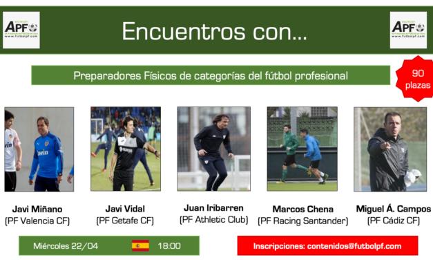 Jornada completa Encuentros con…PF's en el Fútbol Profesional