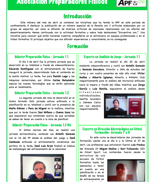 Newsletter Nº14 Abril 2020