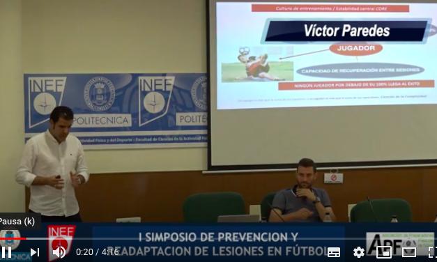 Vídeo Resumen Trabajo preventivo – Víctor Paredes y David Porcel