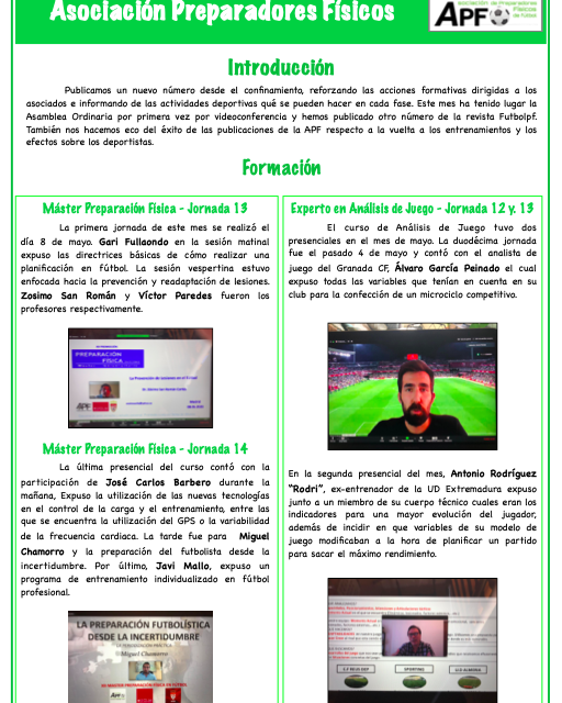 Newsletter Nº15 Mayo 2020