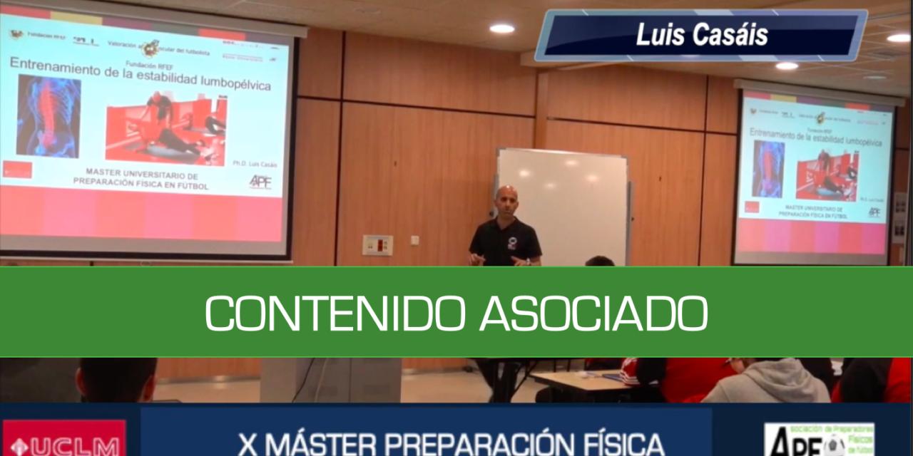 Taller Estabilidad lumbopélvica – Luis Casáis