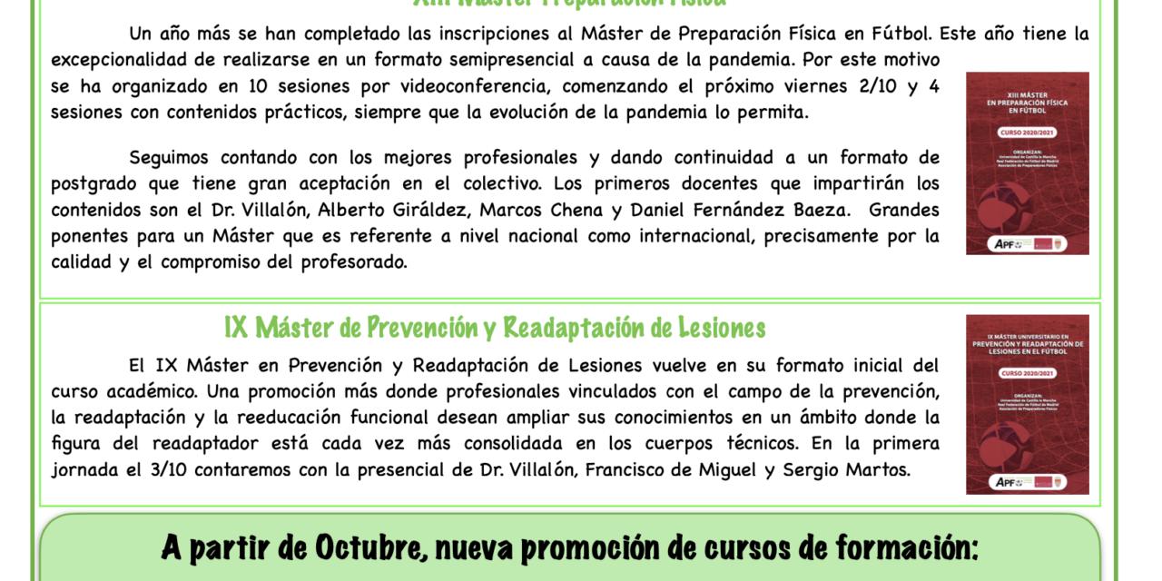Newsletter Nº17 Septiembre 2020