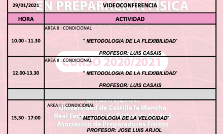 Horario Jornada 7 – XIII Máster PF