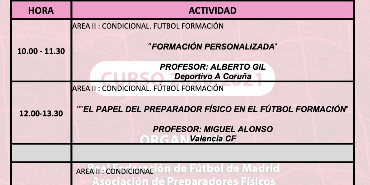 Horario Jornada 8 – XIII Máster PF