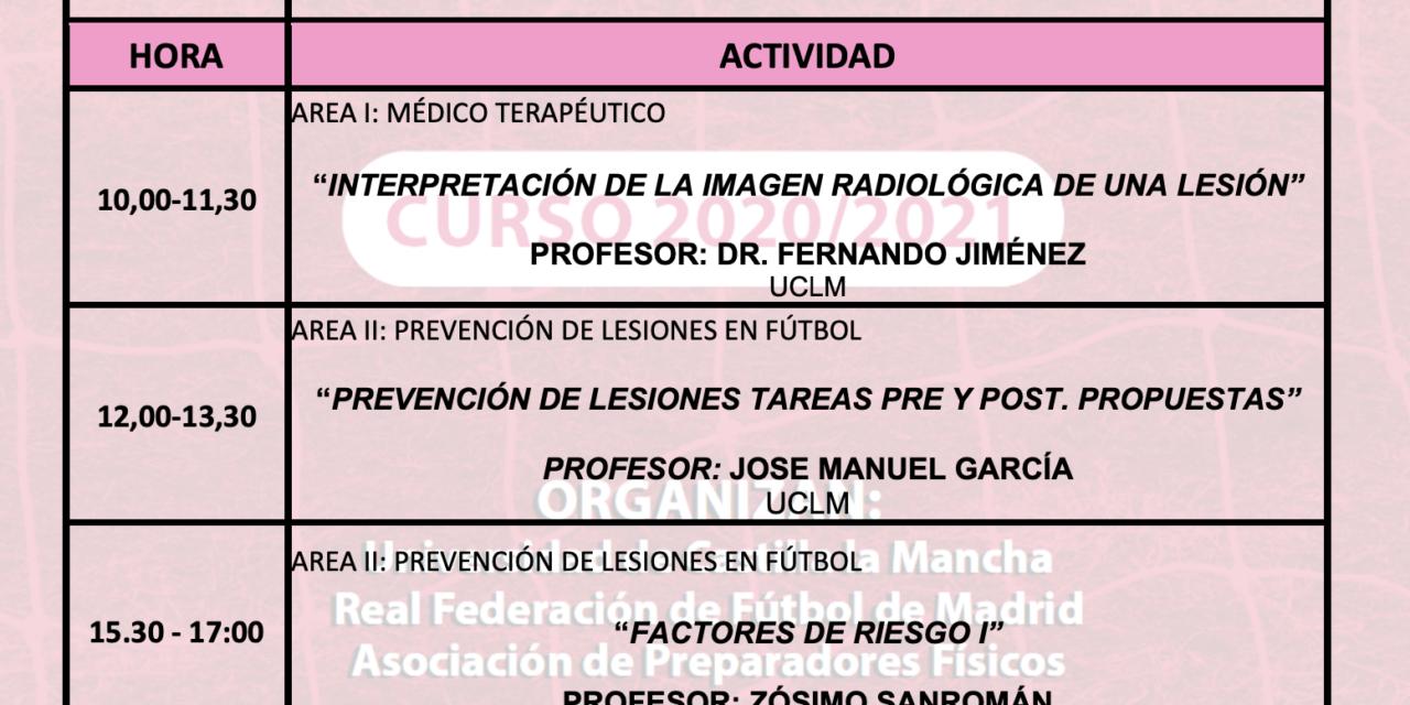 Horario Jornada 8 – IX Máster PRL