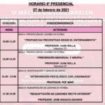 Horario Jornada 9 – IX Máster PRL