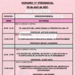 Horario Jornada 11 – XIII Máster PF