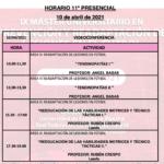 Horario Jornada 11 – IX Máster PRL