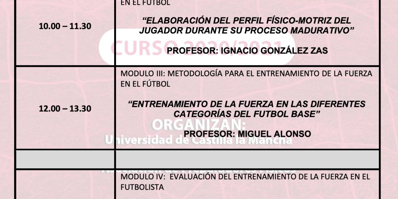 Horario Jornada 6 – I Curso Especialista en Entrenamiento de Fuerza
