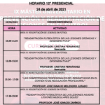Horario Jornada 12 – IX Máster PRl