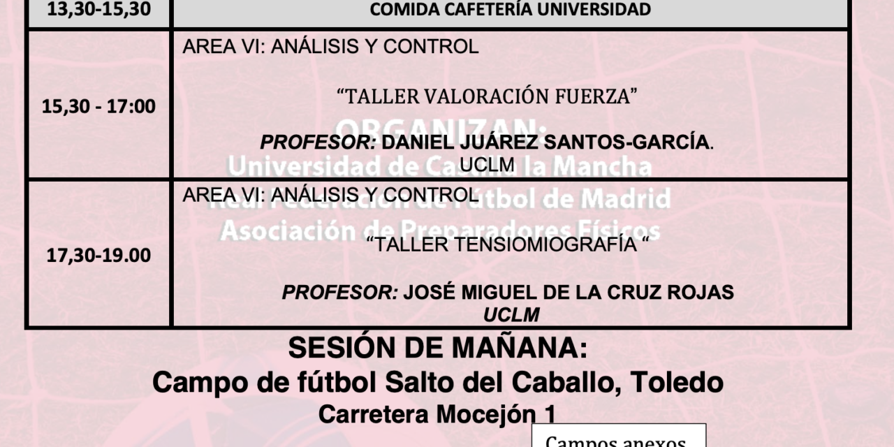 Horario Jornada 14 – XIII Máster PF