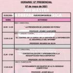 Horario Jornada 13 – XIII Máster PF