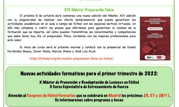 Newsletter nº 27 – septiembre 2021